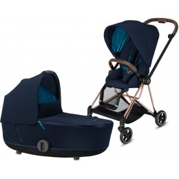 Коляска 2 в 1 Cybex Mios Nautical Blue шасси rose gold