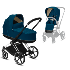 Коляска Cybex Priam Premium Mountain Blue 2 в 1 шасси chrome black