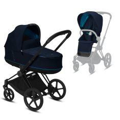 Коляска Cybex Priam Premium Navy Blue 2 в 1 шасси black