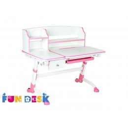 Детский стол-трансформер FunDesk Amare II with drawer Pink