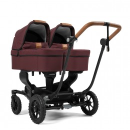 Коляска 2 в 1 Emmaljunga NXT Twin Ergo Black Outdoor Air Outdoor Savannah