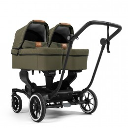 Коляска 2 в 1 Emmaljunga NXT Twin Ergo Black Outdoor Olive